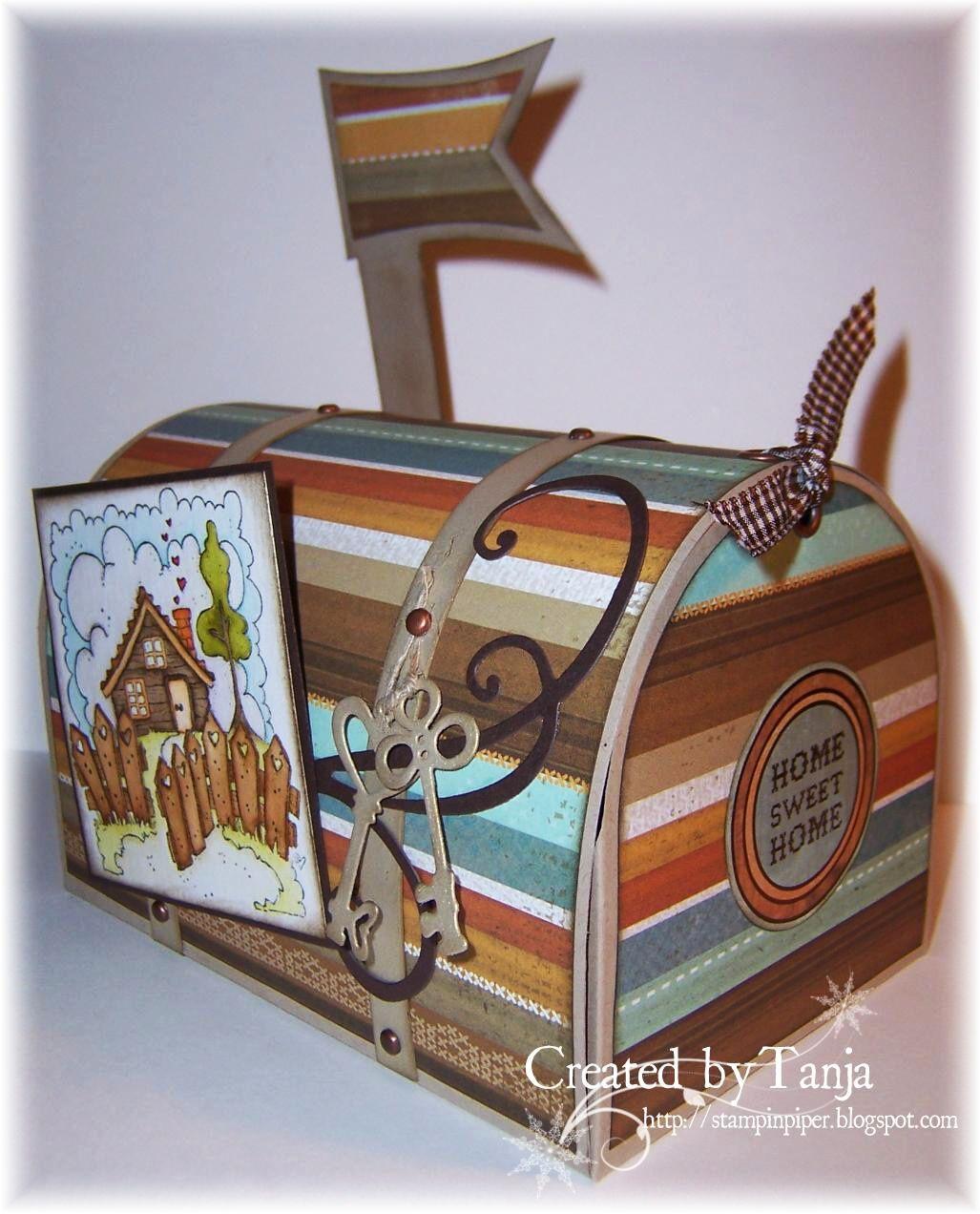 briefkasten mail box tutorial mailbox pinterest schachtel verpackung and geschenke. Black Bedroom Furniture Sets. Home Design Ideas