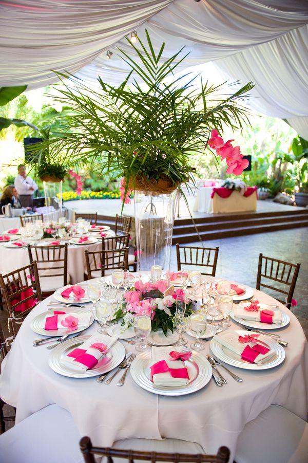Hawaii Theme Wedding Table Decorations Hawaii Weddings Wedding