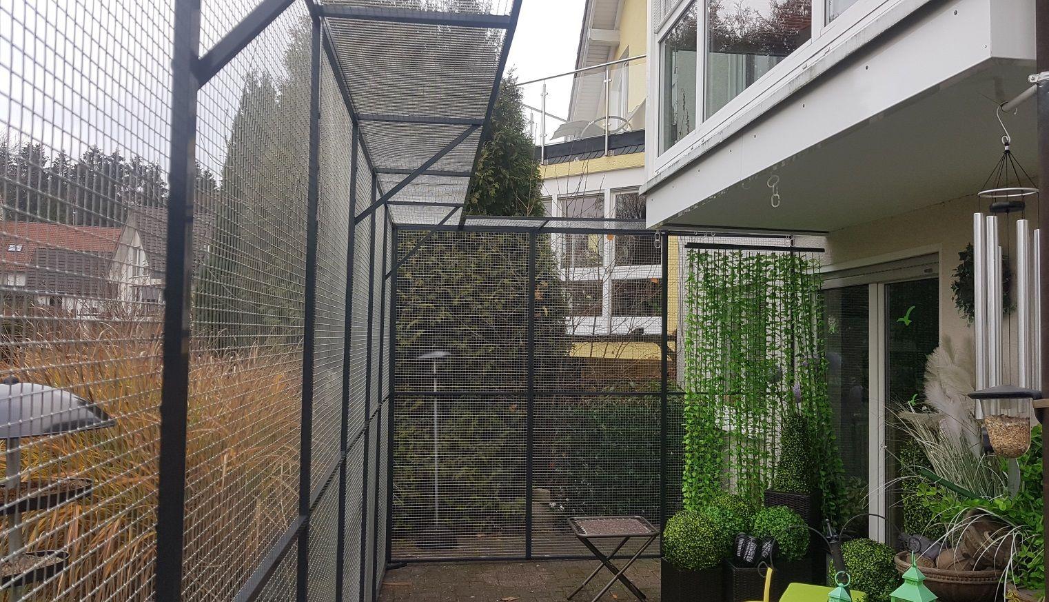 Terrassensicherung Mit Gehege Elementen Katzengehege Gehege