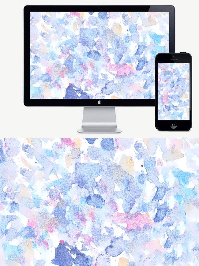 Free downloadable desktop wallpaper design on jeanettagonzales.com. #watercolor, #background