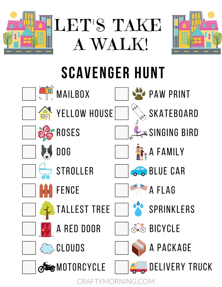 Neighborhood Scavenger Hunt Game Sheet Crafty Morning Neighborhood Scavenger Hunt Outdoor Scavenger Hunts Nature Scavenger Hunts