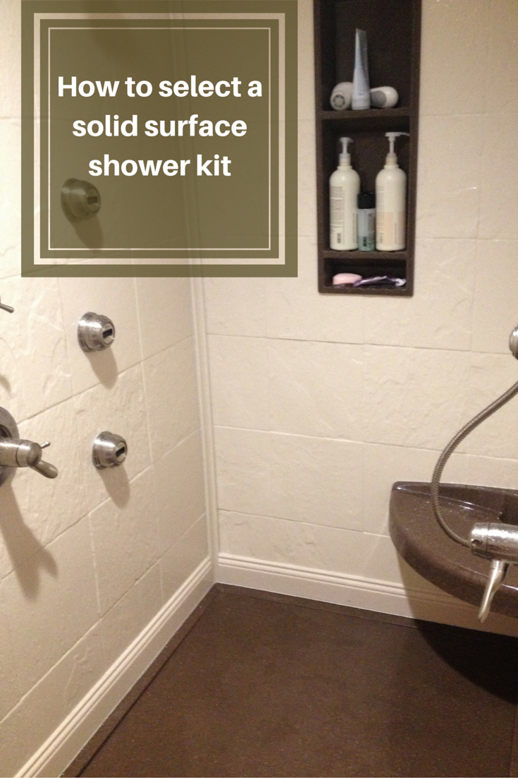 How to Select a Stone Solid Surface Shower Kit | Shower kits, Solid ...