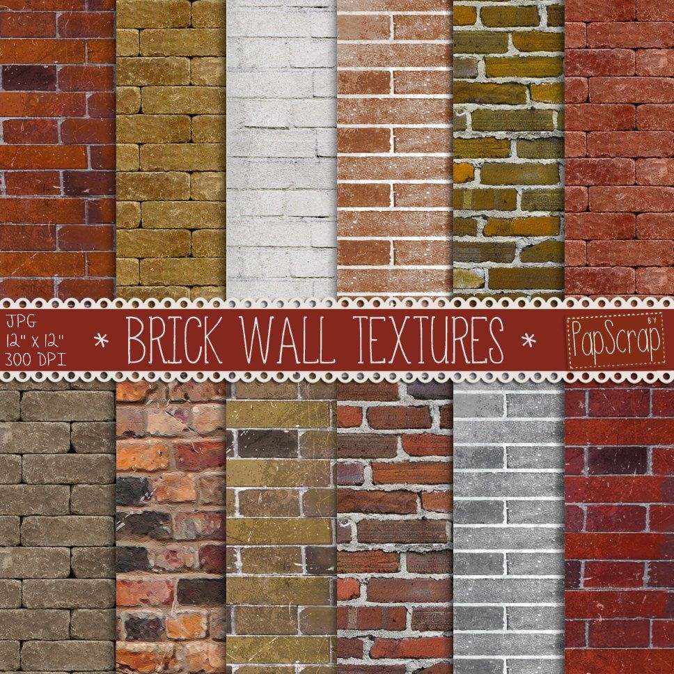 Brick Digital Paper Brick Wall Textures With Digital Brick Textures And Printable Brick Backgrounds In Brown Red And Terracotta Colors Casas De Ladrillo Ladrillo Ladrillos Pintados