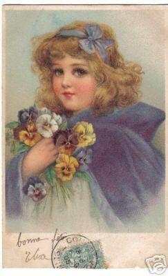 Frances Brundage ? vintage postcard