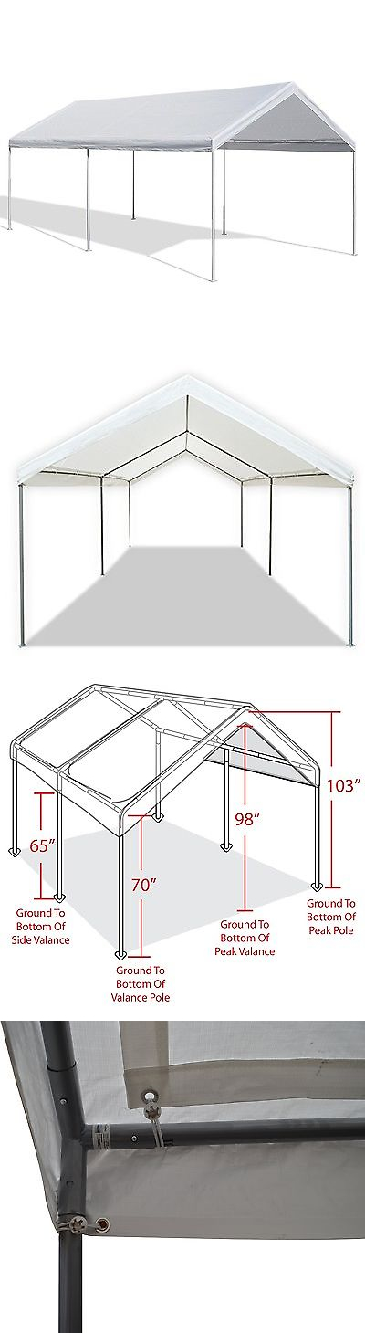 Awnings and Canopies 180992 Caravan Canopy 10 X 20 Feet Domain Carport Garage Tent Car  sc 1 st  Pinterest & Awnings and Canopies 180992: Caravan Canopy 10 X 20 Feet Domain ...