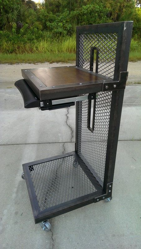 Modern Industrial Standing Desk #026  Industrial Style ...