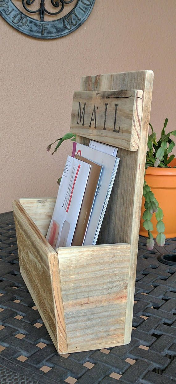 Mail Holder made from Reclaimed and Repurposed Pallet Wood   The ...