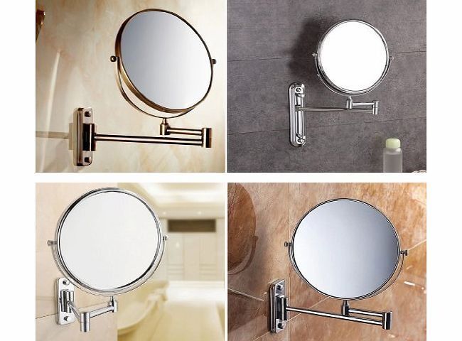 Oxford Steet High Quality Magnifying Mirrors, Chrome Extending 8 Inches  Cosmetic Doubles Sides Wall Mounted