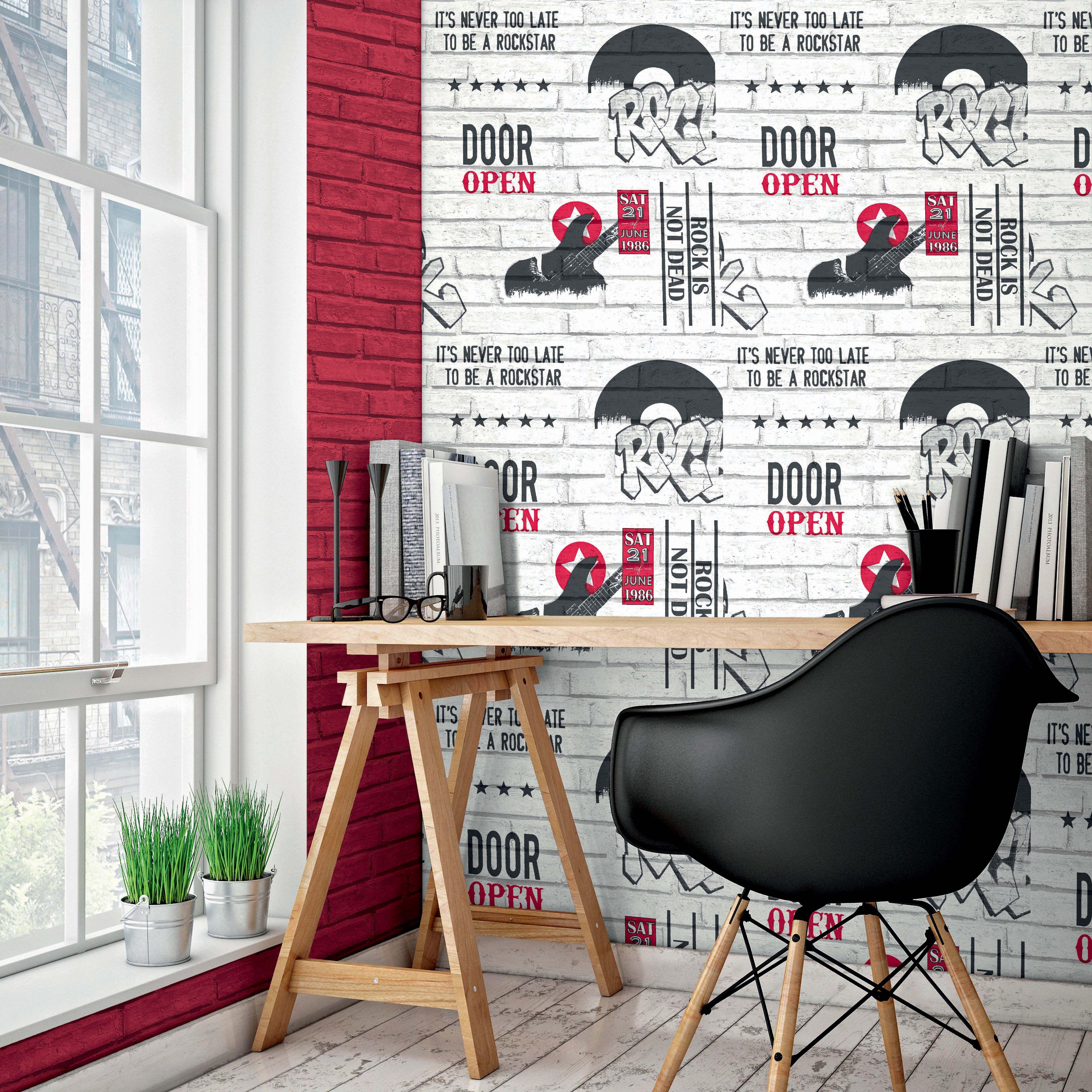 Chambre Ado Avec Papier Peint Brique assortiment de papiers peints briques rouges et briques