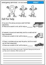 Kids activity games, worksheets and lesson plans  | Safety