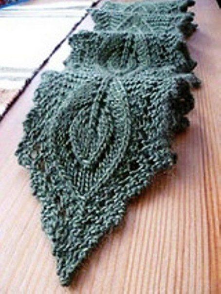 Delicadezas en crochet Gabriela: Dos agujas : Bufanda con diseño de ...