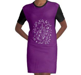 Space Unicorn Graphic T-Shirt Dress