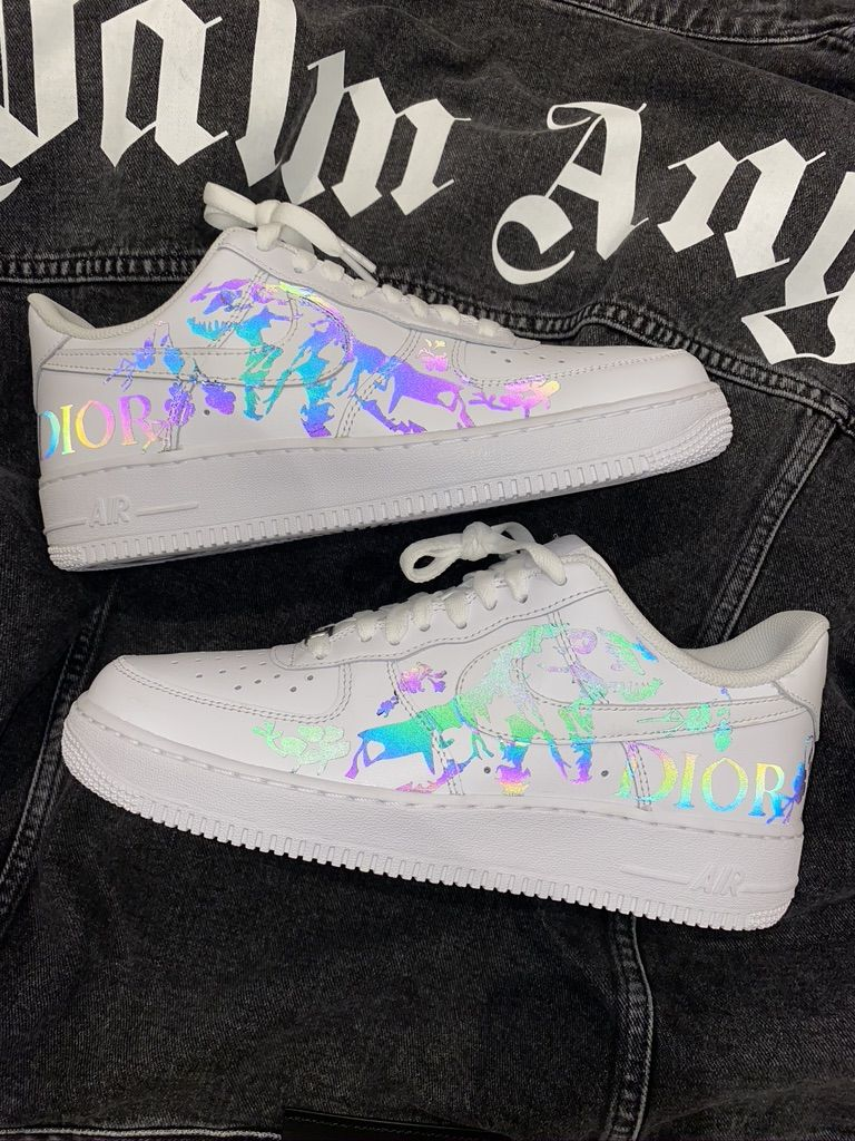 DIOR REFLECTIVE AIRFORCE 1 CUSTOM in