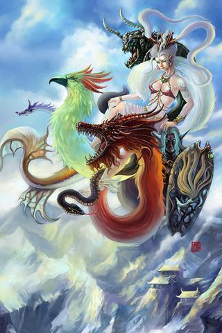 Dragon Princess Android Wallpapers Hd Android Wallpaper Dragon Princess Fantasy Art