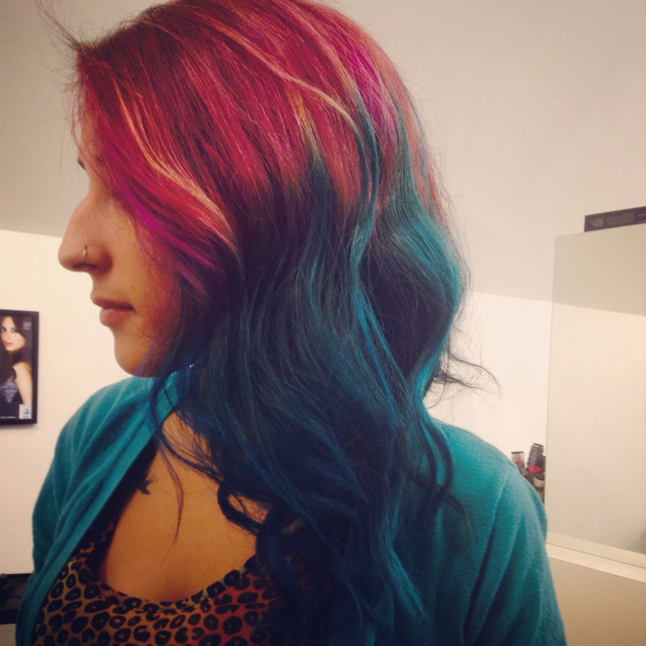 Purple and teal hair purple ombre pinterest teal hair and
