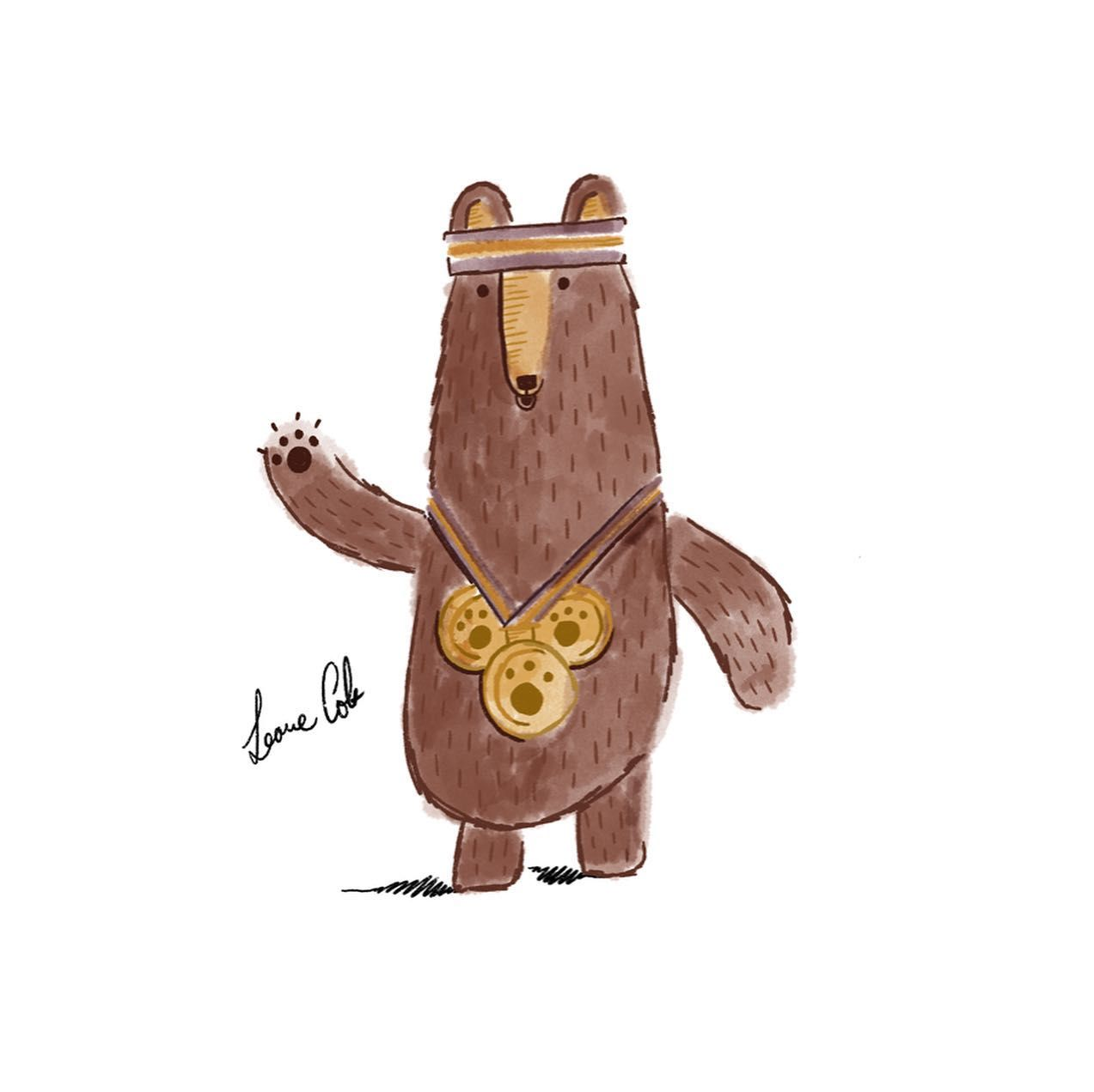The third drawing for Rob Biddulph's 'Draw with Rob' series was Fred the Bear from his book 'Grrrrr!'.🏅 I may have rushed him a little, but here he is!