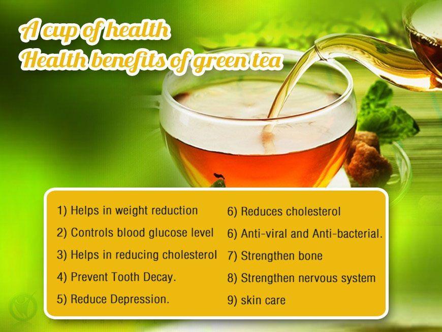 Health Benefits of Green Tea : #healthy_living