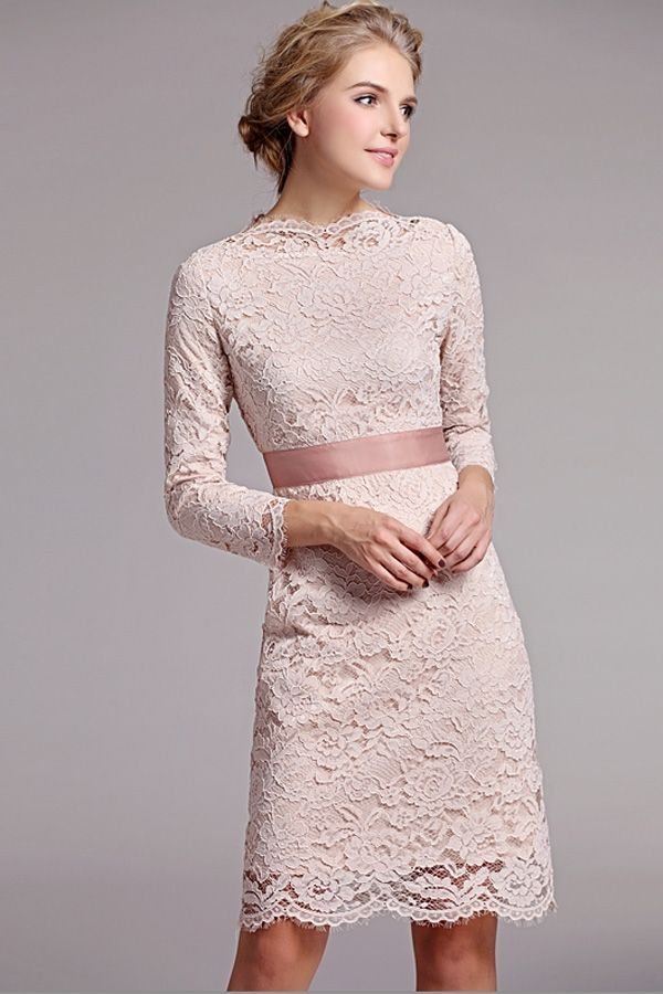 Elegant 3 4 sleeves lace dress sleeved dress for 3 4 sleeve wedding guest dress