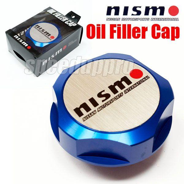Engine Oil Filler Cap Fuel Tank Cover Nismo Billet Fits Nissan Models JDM Blue