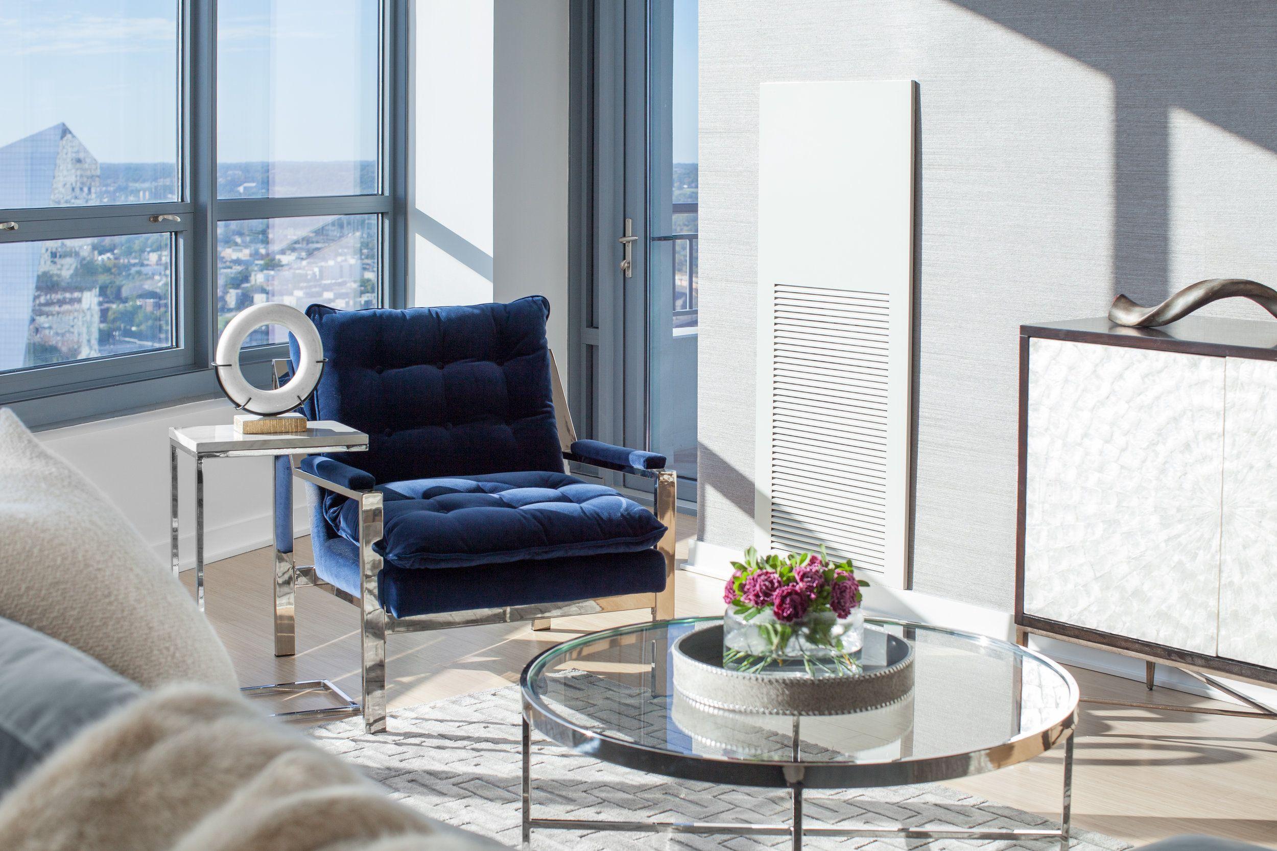 Main Line Philadelphia Living Room Design All White Room With
