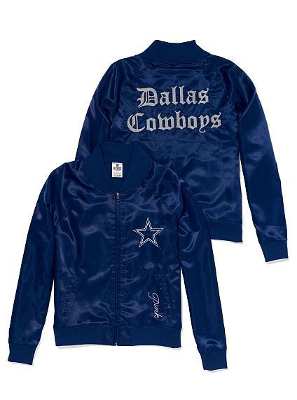 newest 81b51 b47db Dallas Cowboys Satin Varsity Jacket PINK | victoria secret ...