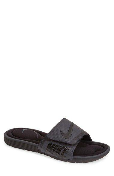 Nike Men's Solarsoft Comfort Slide Sandals, Black In Black ...