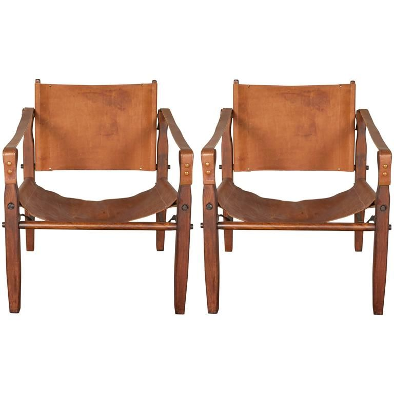 ... Similar Chairs For Sale At   A Pair Of Safari Campaign Style Chairs,  Produced, Circa By The Gold Medal Folding Furniture Company Of Racine,  Wisconsin, ...