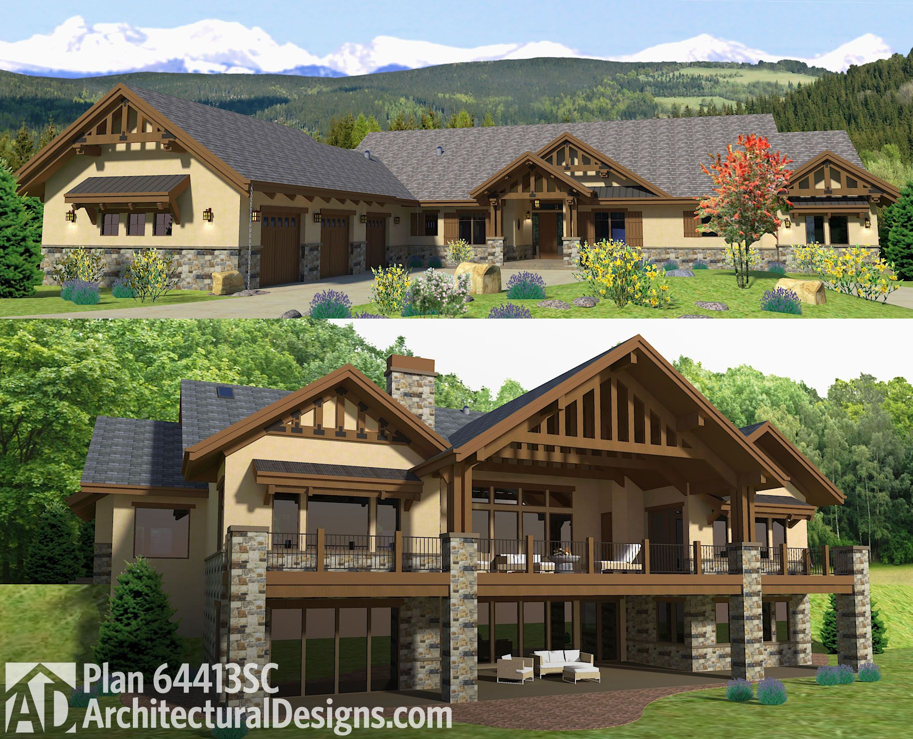 Introducing Architectural Design House Plan 64413sc. Over