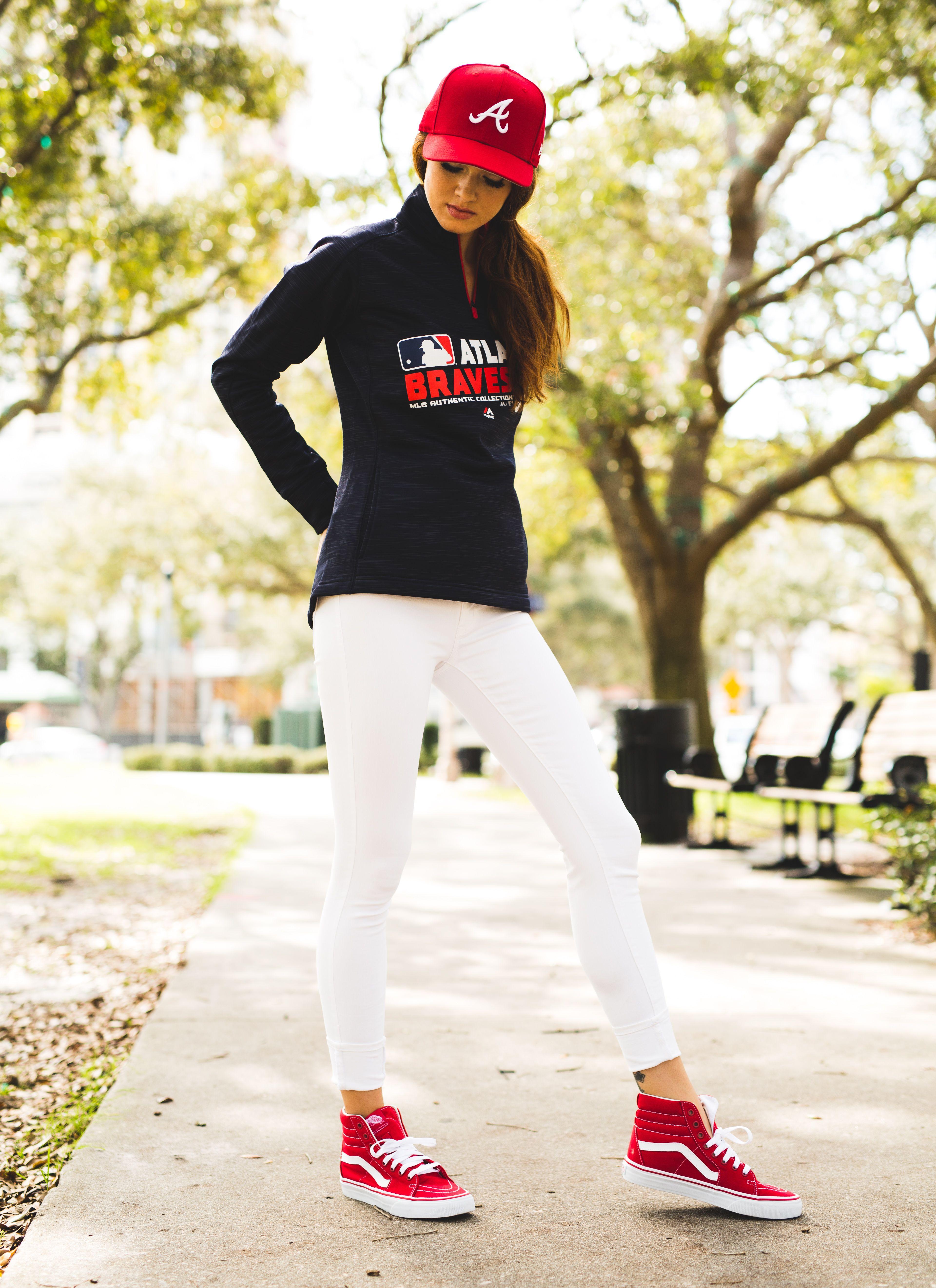 8e281c6dd Baseball T Shirt Mockup. Majestic Half Zip Streak Fleece    Braves     Baseball Game    Fan Style    for Her
