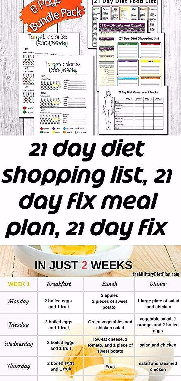 21 day diet Shopping List 21 day fix meal plan 21 day fix  Etsy Boiled Egg Diet