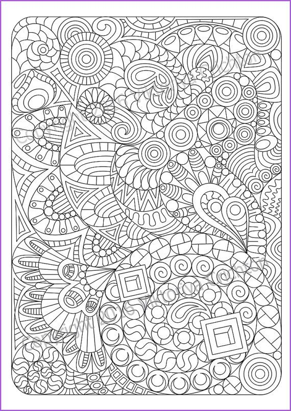 photo about Zentangle Patterns Free Printable called Zentangle artwork Habit coloring web page 14 for grownup, zentangle