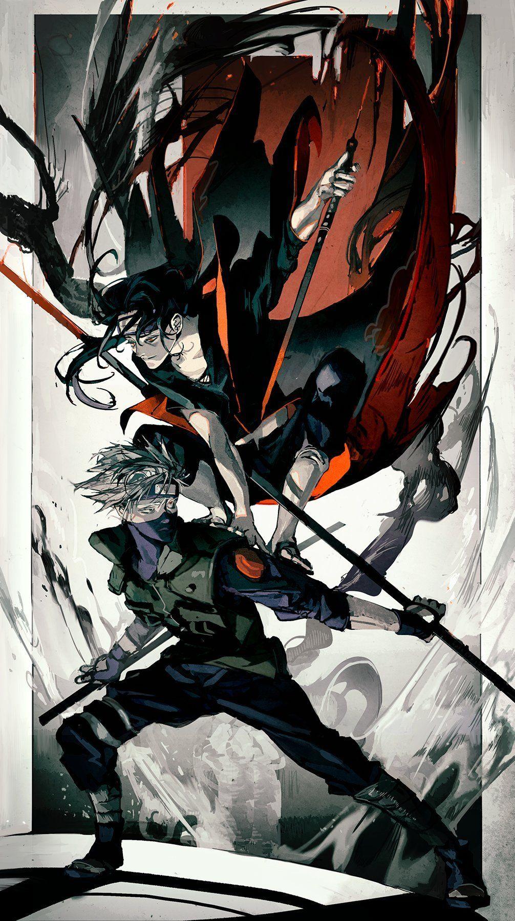 Kakashi and Itachi Artwork by Dibdub1 Anime naruto
