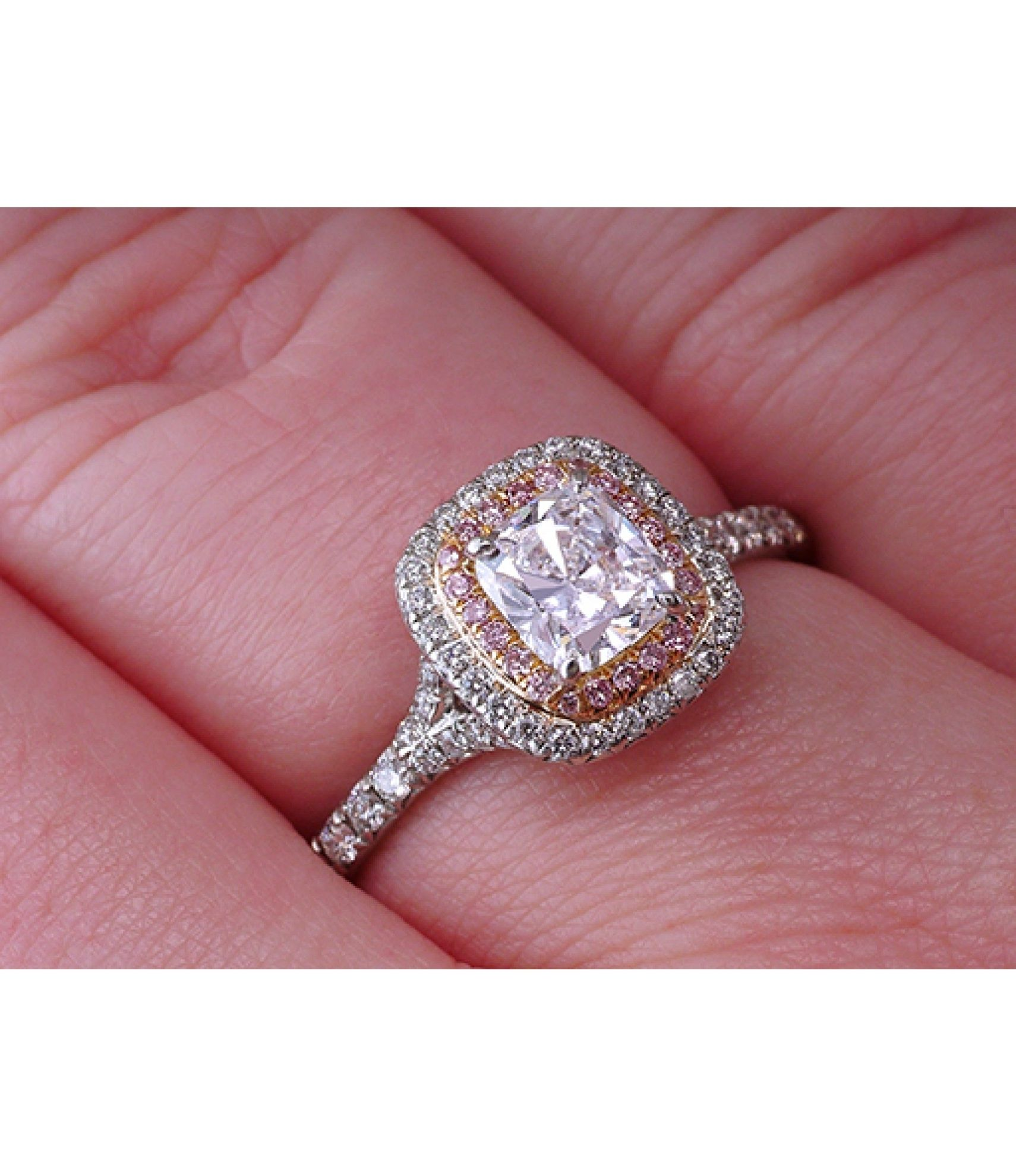 Engagement Ring With Pink Diamonds Tiffany\'S | Ring | Pinterest ...