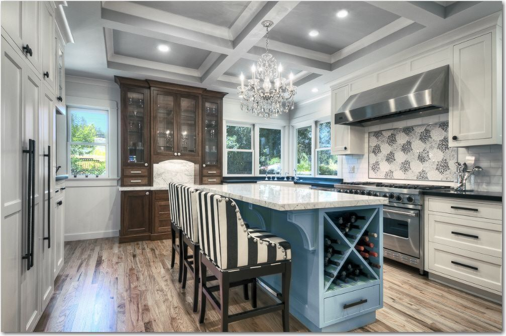 425 white kitchen ideas for 2018 wine rack countertop for Beautiful built in kitchens