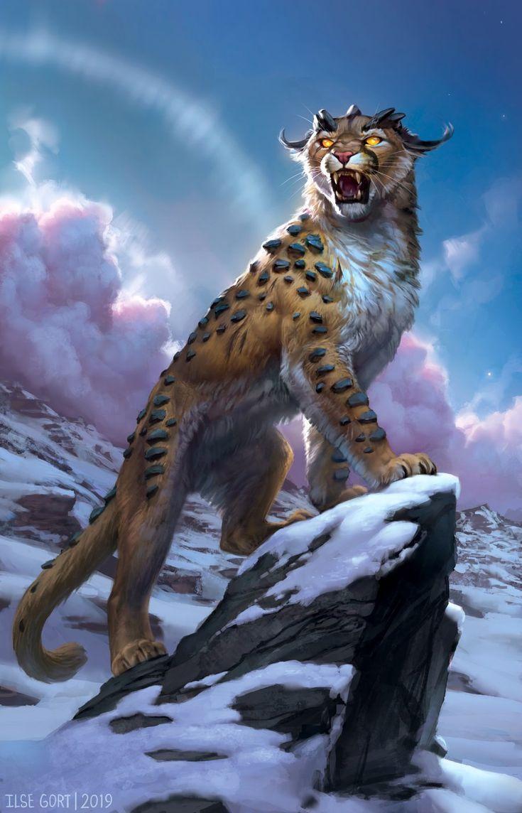 Bergtiger Fantasy Tiere Und Krieger Fantasy Tiere Mystische Tiere Magische Tiere