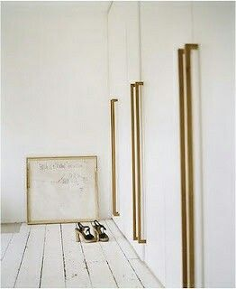 Beau Brass Closet Handles In Pierre Herméu0027s Parisian Apartment