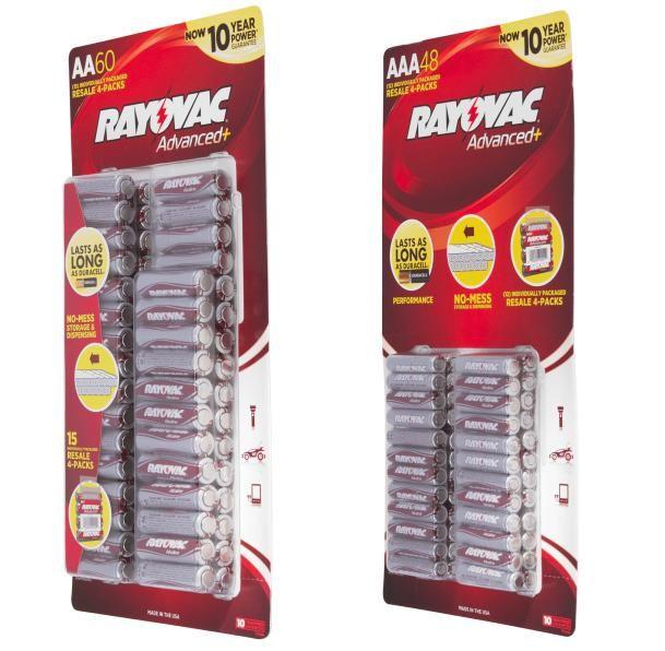Aaa Battery Promo Code >> Rayovac Alkaline Batteries 60 Pack Aaa Batteries 8 48 Pack Aa