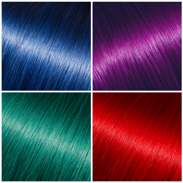 Colour Your Hair Extensions Check Out Our Highlights Blue Purple
