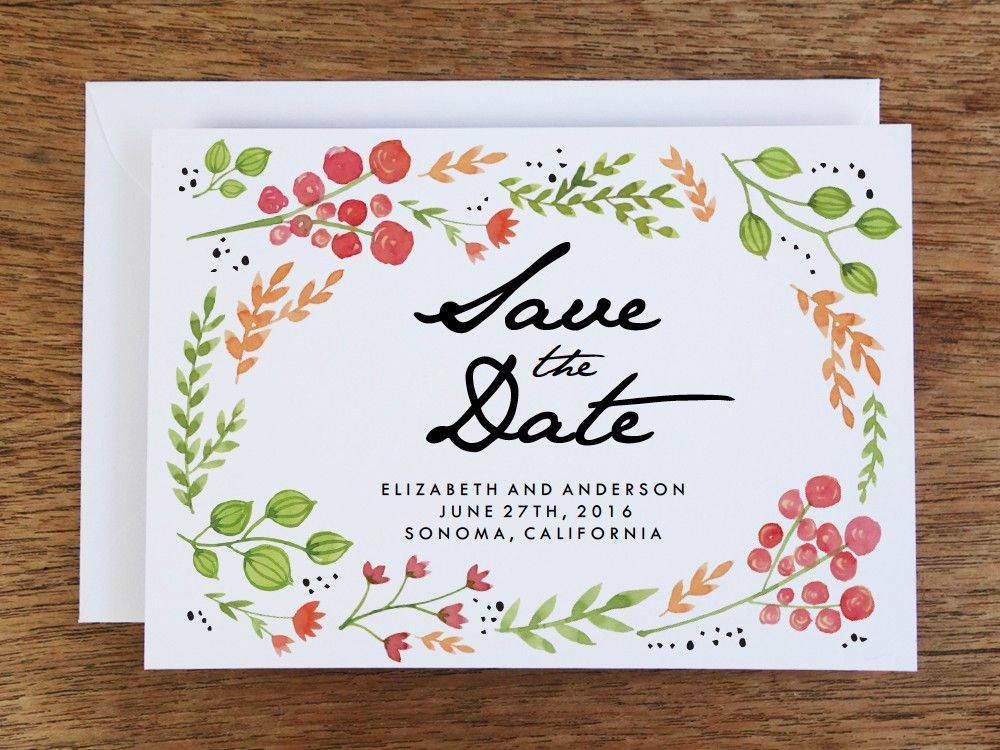 save the date wedding invitation free free printable save the date