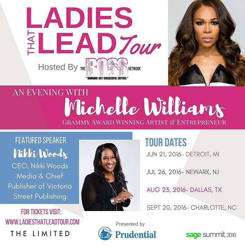 6 days away #DALLAS hosted by the Boss Lady herself @iamcameka and featuring rammy Award-winning Singer @realmichellew!  I want to see all the serious business women there. This event is a can't miss!  Deets and link below.  Event:Ladies That Lead Featuring Grammy Award-winning Singer Michelle Williams When: Tuesday August 23rd 2016 starting at 6pm Where: Pads at The Aloft Hotel Downtown 1033 Young St Dallas TX 75202 Tickets: http://ift.tt/2bqN301  Website: http://ift.tt/1SX9gjL