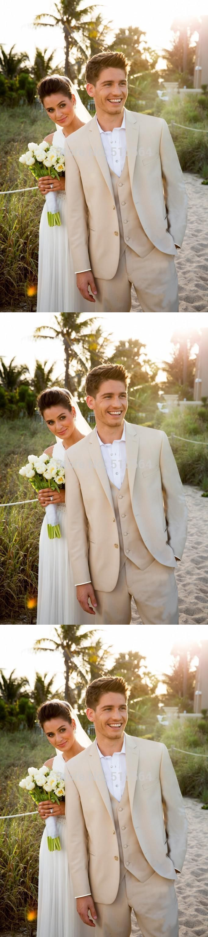 beige mens suits for wedding custom made men tuxedos wedding