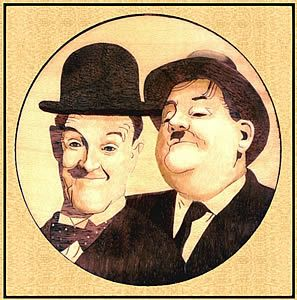 Laurel and Hardy Inlay