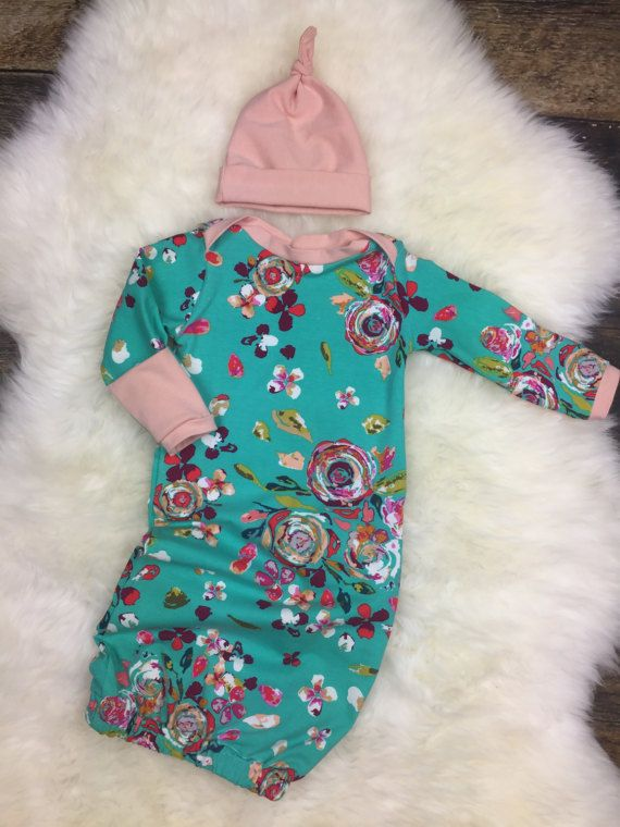 Infant/Baby Girl Layette Gown in Swifting Flora ~ Baby Girl Coming ...
