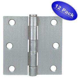 Cosmas Satin Nickel Door Hinge 3 5 Inch X 3 5 Inch With Square Corners 12 Pack By Cosmas 16 68 Cosmas Hardware Is T Home Hardware Door Hardware Hardware