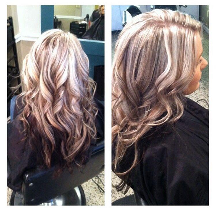 blonde lowlights dark underneath platinum dark blonde