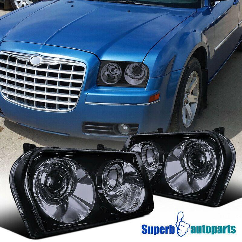 Ad Ebay 2005 2010 Chrysler 300 Smoked Projector Headlights Glossy