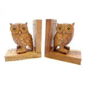 Orchid Living - Pair Of Owl Bookends.