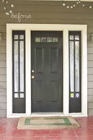 Image Result For Black Front Door With Sidelights Painted Front