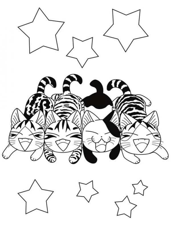 Coloriage chi une vie de chat imprimables pinterest coloriage dessin et coloriage chat - Chat a colorier kawaii ...