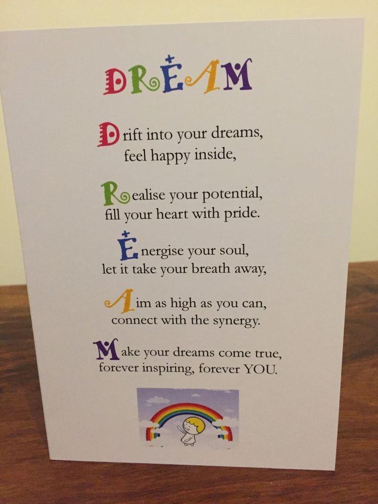 Dream cute motivational greeting card flourish and blossom dream cute motivational greeting card m4hsunfo